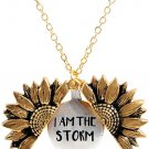 You Are My Sunshine Engraved Necklace Sunflower Locket Necklace Jewlery for Women girlfriend