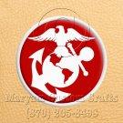 6 Inch Long Handmade Custom Mosaic Pin Inlay Eagel Globe Anchor Knife and Jewellery Making - MCC016