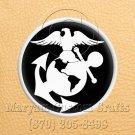 6 Inch Long Handmade Custom Mosaic Pin Inlay Eagel Globe Anchor Knife and Jewellery Making - MCC015
