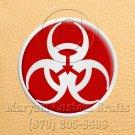 12mm x 6 Inch Long Handmade Custom Mosaic Pin Inlay Biohazard Knife and Jewellery Making - MCC012