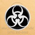 12mm x 6 Inch Long Handmade Custom Mosaic Pin Inlay Biohazard Knife and Jewellery Making - MCC011