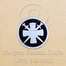 6 Inch Long Handmade Custom Mosaic Pin Inlay Crossed Swords Knife and Jewellery Making - MCC013