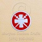 6 Inch Long Handmade Custom Mosaic Pin Inlay Crossed Swords Knife and Jewellery Making - MCC014