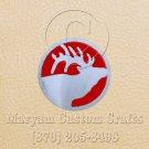 6 Inch Long Handmade Custom Mosaic Pin Inlay Deer Head Knife and Jewellery Making - MCC032