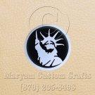 6 Inch Long Handmade Custom Mosaic Pin Inlay NY Liberty Knife and Jewellery Making - MCC037