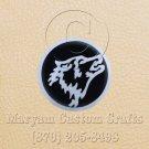 6 Inch Long Handmade Custom Mosaic Pin Inlay Wolf Knife and Jewellery Making - MCC043