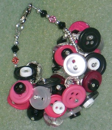 Choice of Custom Boutique Button Fringe Bracelets