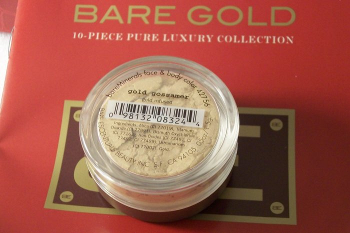 bareGold Escentuals Minerals Infused Gold Gossamer New