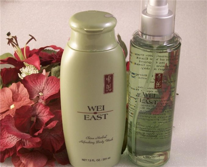 Wei East China Herbal Refreshing Body Wash & Spray Duo ~ Full Size Sealed