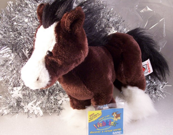 Webkinz Clydesdale Brown Horse Unused Tag New HM139