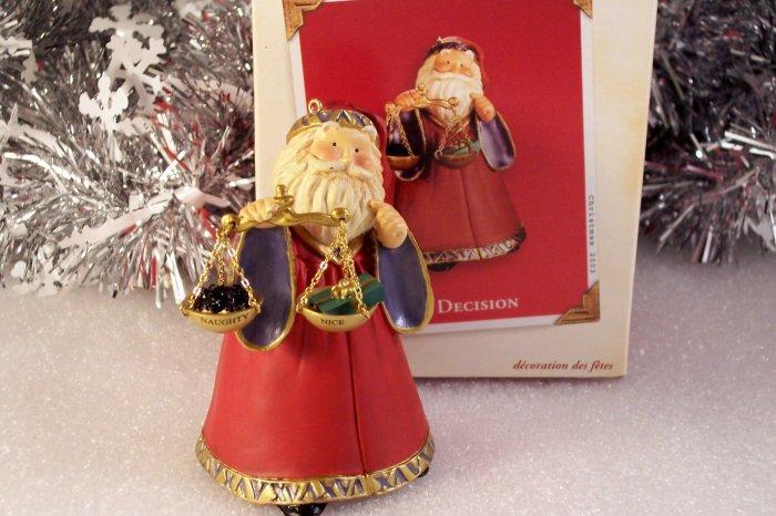 2003 Hallmark Santa Claus The Decision Naughty or Nice? MIMB