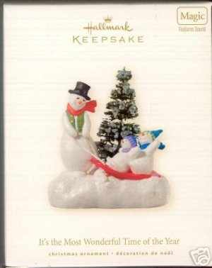 2008 Hallmark It's the Most Wonderful Time of the Year Ornament * Sounds of Season Magic