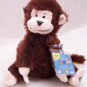 New Webkinz LilKinz Monkey Retired Sealed Code Tag HS008