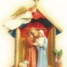 2007 Hallmark Ornament ~ A Child Was Born Nativity Scene Jesus Manger Rare MIMB