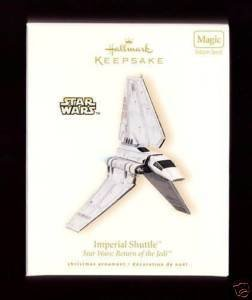 2008 Hallmark ~ Imperial Shuttle Star Wars Ornament Magic Sound New