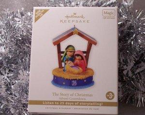 2010 Hallmark The Christmas Story Advent Countdown Calendar Ornament Magic Light Sound