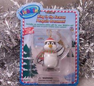 Webkinz Brand New Ring in the Season Penguin Ornament WE000417 Sealed Code