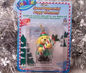 Webkinz Brand New Sweet Peppermint Puppy Ornament WE000418 Sealed Code