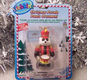 Webkinz Brand New Christmas Parade Panda Ornament WE000419 Sealed Code