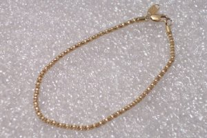 "Solid 14kt Gold at Scrape Prices 2mm Popcorn Bracelet 7.5"" ~ 2.0gwt Brand MA Made in USA"