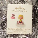 2010 Hallmark Sally and Woodstock on Ice The Peanuts Gang Magnetic Ornament Series #5