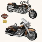 Hallmark Harley Davidson 2008 VRSCAW V-Rod & 2008 FLHRC Road King Classic Mini 2 Ornaments