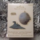 2008 Hallmark Star Wars Set of 2 Death Star and Destroyer Return of Jedi New Ornaments