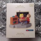 2008 Hallmark School Days Peanuts Gang Linus and Sally Magic Sound Ornament New