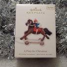 2010 Hallmark A Pony for Christmas # 13 Series Jockey Bear Ornament New