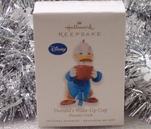 2010 Hallmark Donald Duck Donald's Wake-Up Cup Coffee Disney New