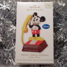 2011 Hallmark Mickey's Talking Telephone Magic Sound Disney Mouse Ornament New