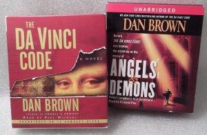 The Da Vinci Code and Angels & Demons Set of 2 Unabridged CD Audio Books Dan Brown