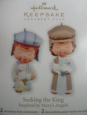 2011 Hallmark Club Exclusive Seeking the King Shepherds Precious Moments Porcelain New