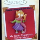 2004 Hallmark My 3rd Third Christmas Girl Cat Ornament Childs Age Collection Mint