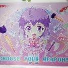 """""""Choose Your Weapon"""" Kawaii Anime Girl Mousepad"""