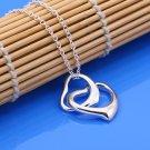 925 Silver Double Pendant Necklace