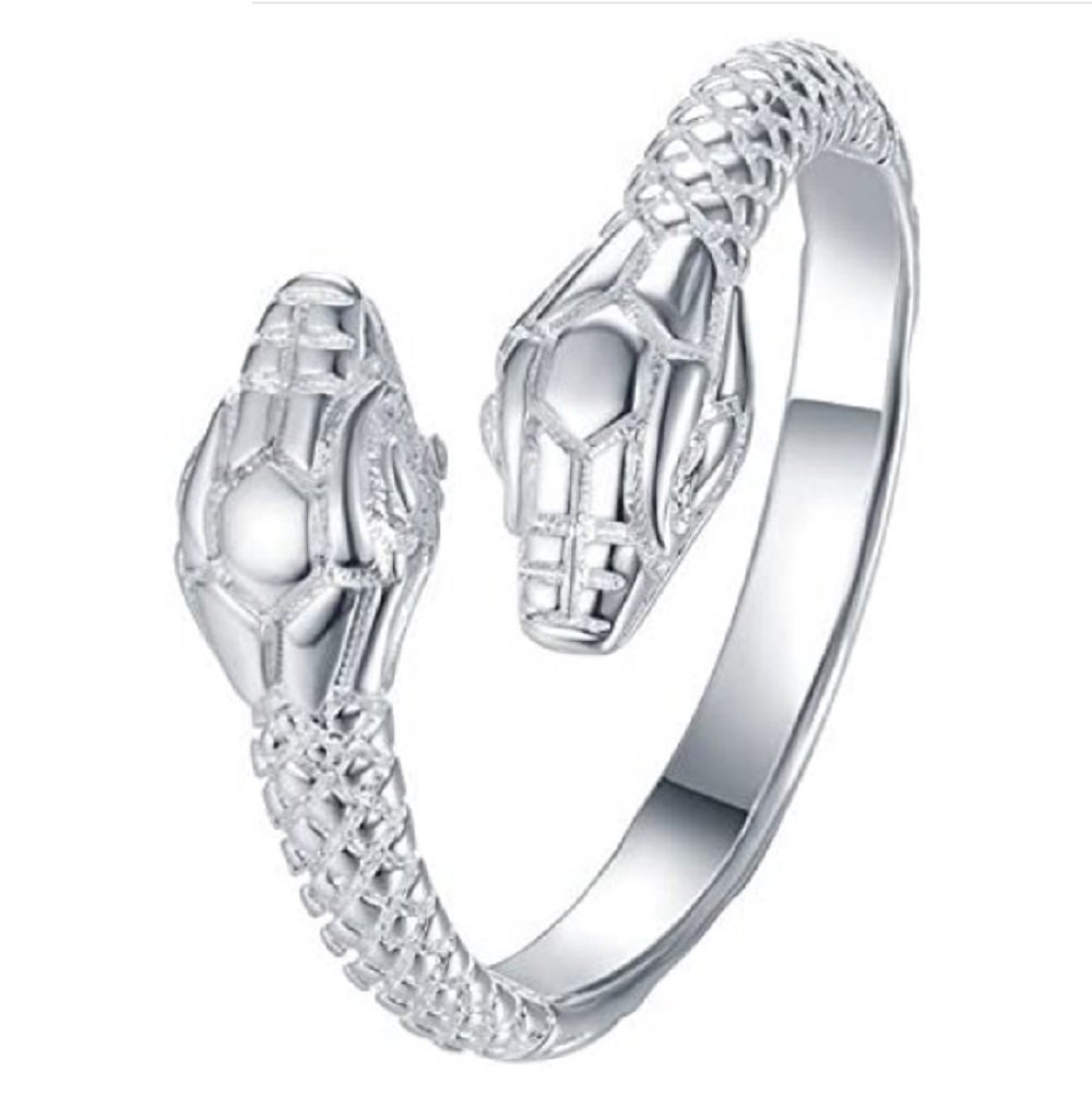 925 Silver Snake Ajustable Ring