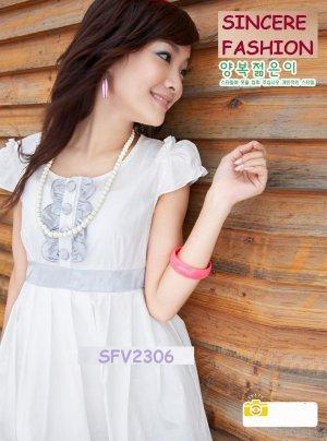 eBeauty*2306 - Vivicam -White Glamorous romance Korean Dress