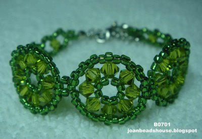 eBeauty*B0701 - Three Circles Beads Bracelet