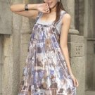 NEW ARRIVAL eBeauty*1100 – Coffee korean design dress with inner shinny elastic top