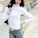 eBeauty*71007 – White high color lace cotton long blouse