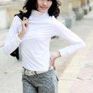 eBeauty*71007 – White high color lace cotton long blouse