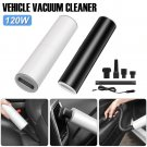 Color Black Portable Handheld Vacuum Cleaner 120W Car Charger Plug-in Vacuum with HEPA Filter