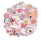 50PCS Cartoon Pink INS Style Vsco Girl Stickers For Laptop Moto Skateboard Refrigerator Notebook