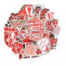 50PCS Cartoon Red INS Style Vsco Girl Stickers For Laptop Moto Skateboard Refrigerator Notebook