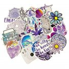50PCS Cartoon Purple INS Style Vsco Girl Stickers For Laptop Moto Skateboard Refrigerator Notebook