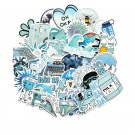 50PCS Cartoon Blue INS Style Vsco Girl Stickers For Laptop Moto Skateboard Refrigerator Notebook