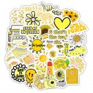 50PCS Cartoon Yellow INS Style Vsco Girl Stickers For Laptop Moto Skateboard Refrigerator Notebook