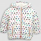 5T Size Color Beige Children's jacket high-grade styling padded coat Boys and girls winter solid