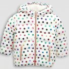 8T Size Color Beige Children's jacket high-grade styling padded coat Boys and girls winter solid